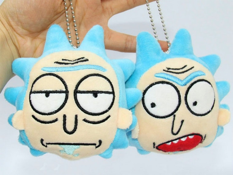 This squanchy Rick and Morty keychain