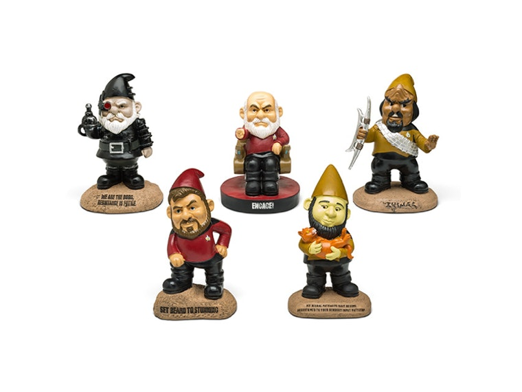 These Star Trek... garden gnomes?