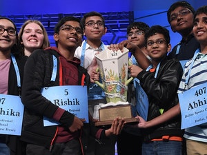 Scripps National Spelling Bee's Eight Co-Champs 'Beat the Dictionary' -- and Spark Controversy
