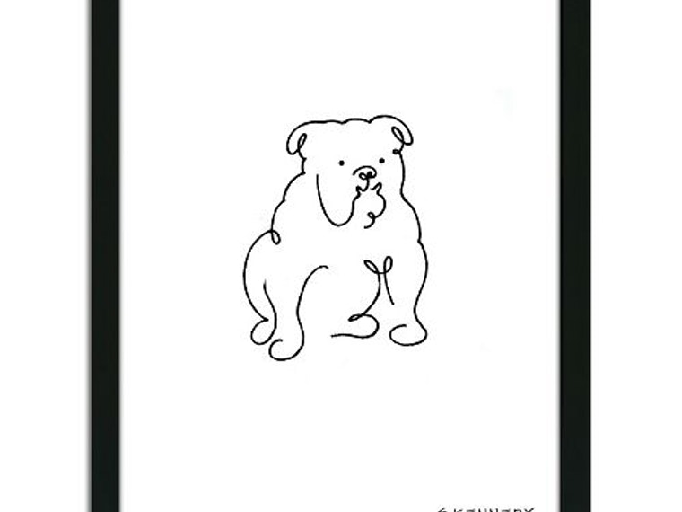 This beautifully simple rendering of an English Bulldog