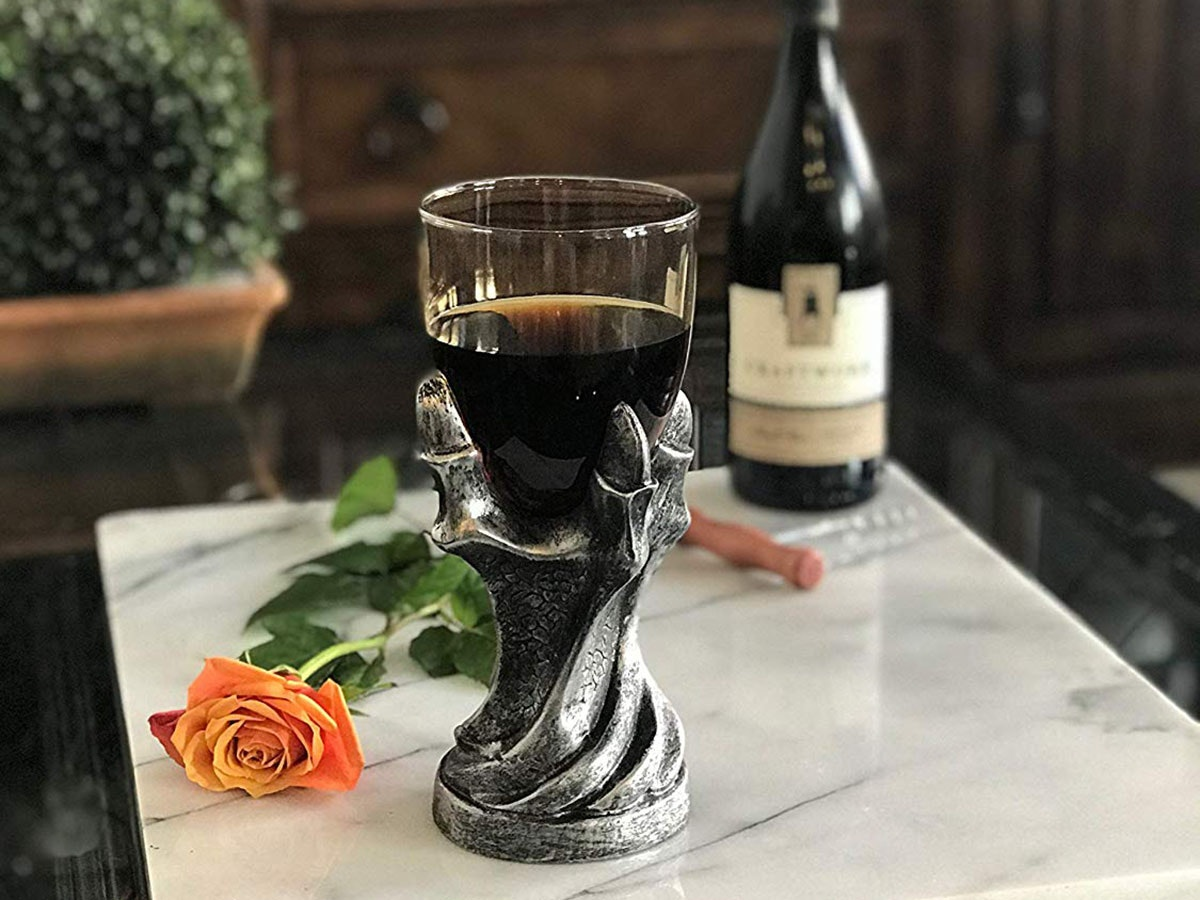 A goblet made from a dragon's claw