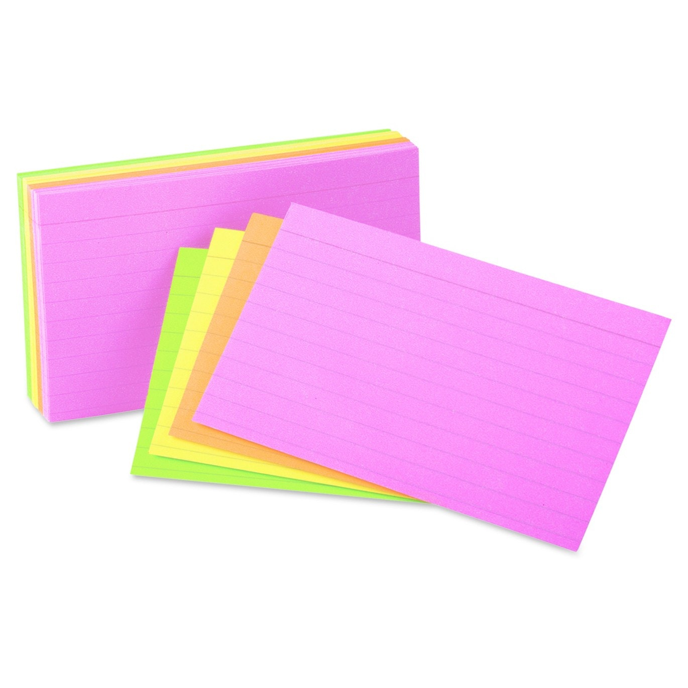 These helpful neon index cards for notes and presentations
