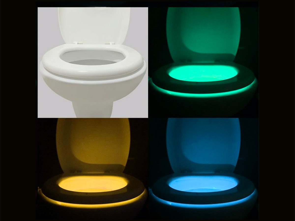 This light that makes your toilet glow in the dark🚽