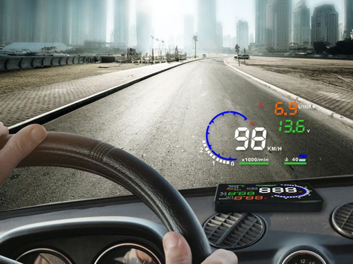 This gadget that adds a heads-up display to your car