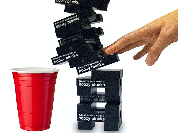 This game that's essentially Jenga with shots