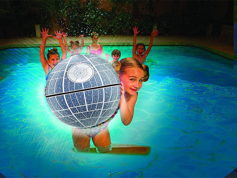 This light-up Death Star beach ball