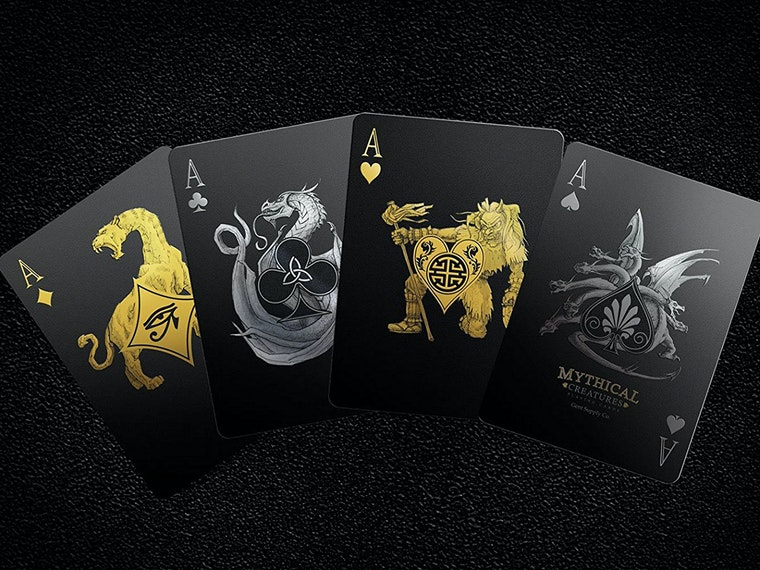 These murdered out playing cards for monster lovers
