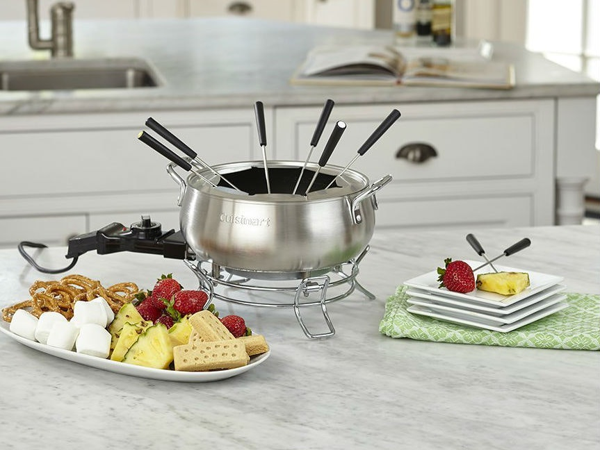 This fondue set for hot, chocolatey snacks
