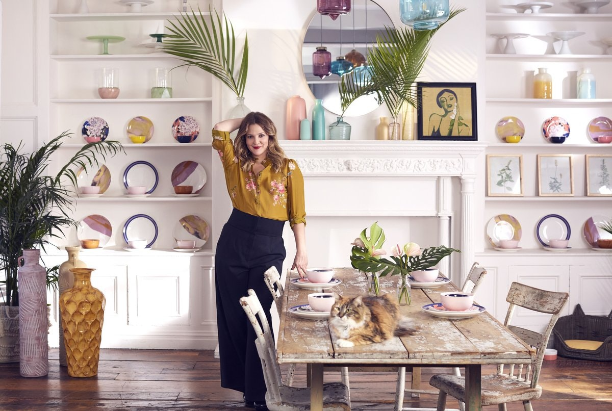 Drew Barrymore Partners with Walmart to Launch New Home Decor Line and We Love It