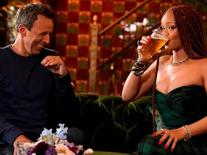 Rihanna and Seth Meyers Day Drinking Together Is the Best Thing You'll See Today