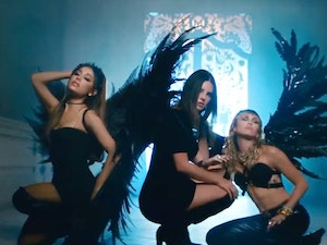 Ariana Grande, Miley Cyrus and Lana Del Rey Slay in Music Video for 'Don't Call Me Angel'
