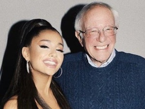 Ariana Grande Meets Bernie Sanders